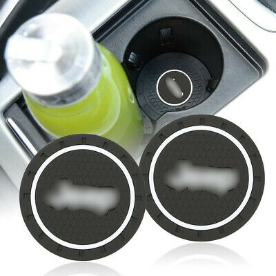 2PCS Silicone Car Cup Bottle Holder Pad Mat Coaster fit for Jeep 70mm