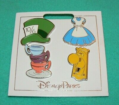 Disney Trading Pin Lot of 4 New Alice in Wonderland Themed Set Dress Hat Flair