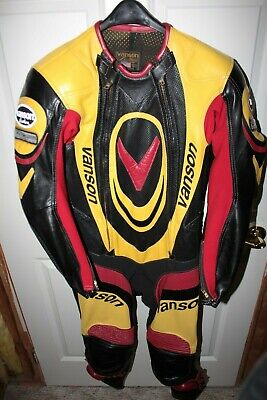 Vanson Leathers Troy Lee Designs Red Yellow Suit Size 40