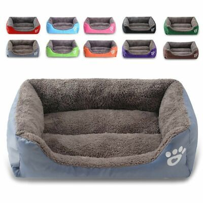 Cat Bed Deluxe Soft Washable pet Dog Bed Warm Basket Cushion with Fleece Lining!
