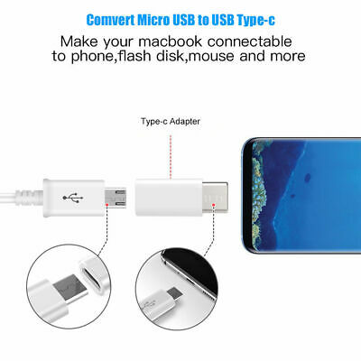 Fast Charging USB Type C Male to Micro USB Female Converter for Macbook