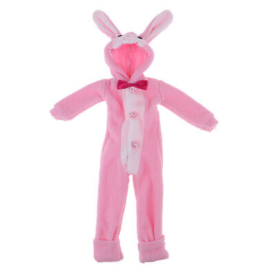 4pcs Cute Pink Rabbit Outfit Suit For BJD Doll 1//4 1//6 MSD  Doll Clothes CW76