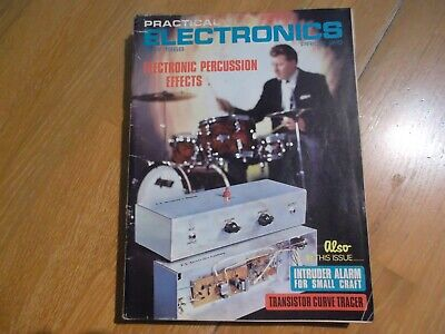 Practical Electronics May 1968 Electronic Percussion Effects Intruder Alarm Vgc