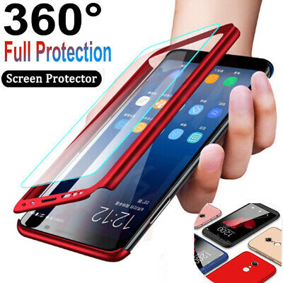 360° Full Cover Front Clear Glass Case For Samsung Galaxy S10 5G S10 Plus S9 S8