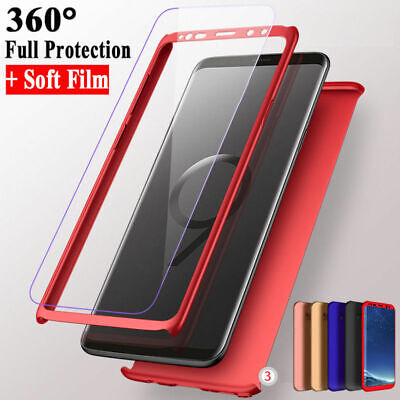 360° Full Cover Case+Glass Screen Protector Cover For Samsung Galaxy S6 S7 Edge