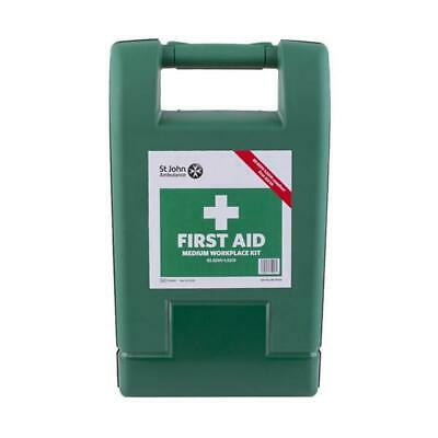 St John Ambulance Medium Workplace First Aid Kit Wall Mounted Medical Supplies