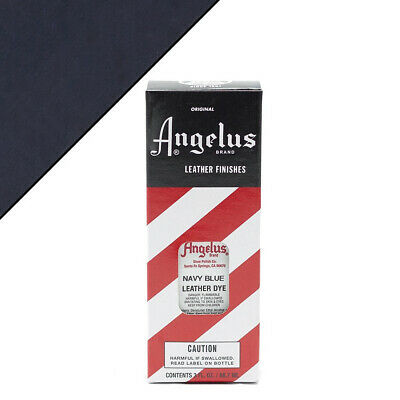 C--042 Angelus Permanent Leather Dye With Applicator 3Oz Navy Blue