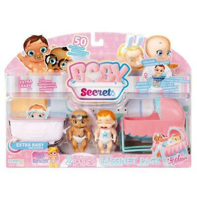 Baby Secrets Bassinet Pack Zapf Creation Doll Play Set Toy