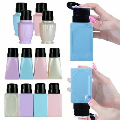 Liquid Alcohol Empty Bottle Nail Polish Remover Make Up Container Pump Box
