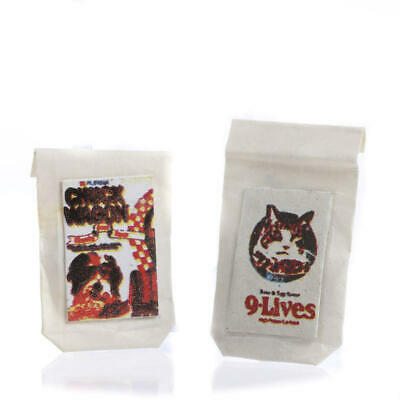 Dollhouse Miniature Cat and Dog Food | 6 Pieces