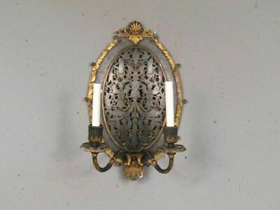E.F. Caldwell Pewter and Bronze wall sconce