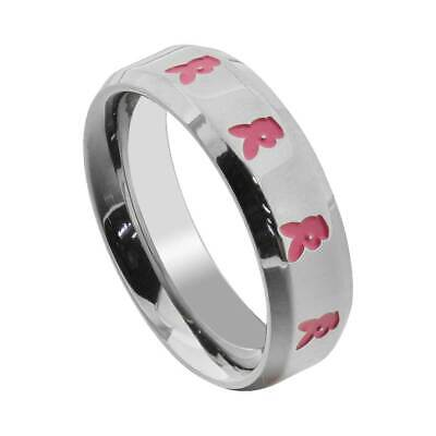 Mens Ladies Black Stainless Steel PLAYBOY Bunny Ring Laser Etched Thumb Ring