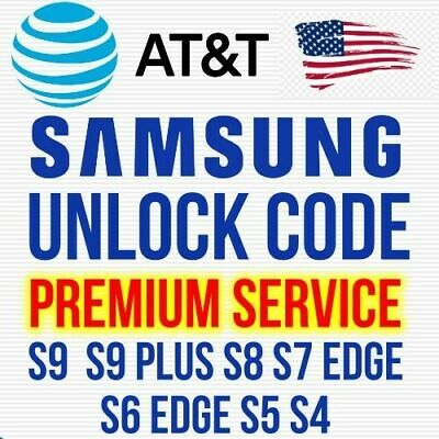 UNLOCK CODE SERVICE FOR AT&T SAMSUNG GALAXY S9 S9+ S8 S8+ S7 S6 NOTE 8 7 active