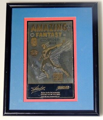 ESZ2890 Amazing Fantasy #15 Limited Edition Hand-Etched Cover Recreation (1994)@