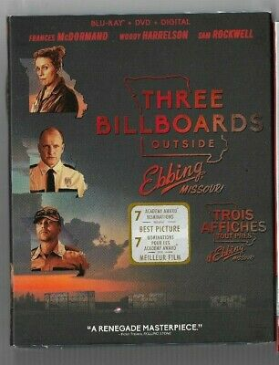 Sealed Blu-Ray Disc DVD THREE BILLBOARDS OUTSIDE EBBING MISSOURI -  Also French