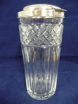 Late 19Th Century Hawkes Sterling Top Brilliant Cut Ribbed Glass Decanter