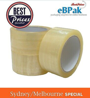 36x Packing Tape 45U Clear Transparent Packaging Tape Sticky - Sydney Special