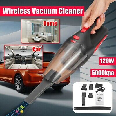 Portable Rechargeable 120W 5000kpa Cordless Vacuum Cleaner Wet Dry Handheld Car
