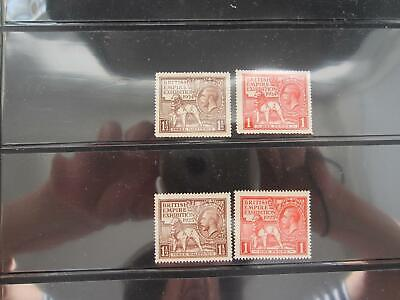 Great Britain 1924-1925 British Exhibition mint never hinged , 185-6 & 203-4 933