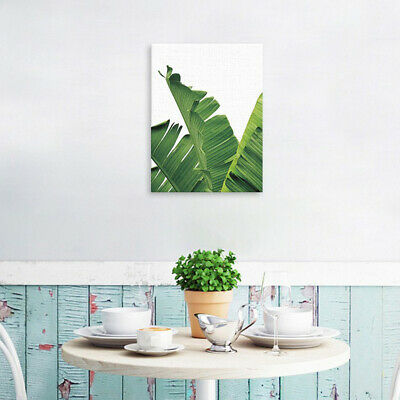 Tropical Plants Banana Leaves Palm Leaves Wall Hanging Painting Picture M