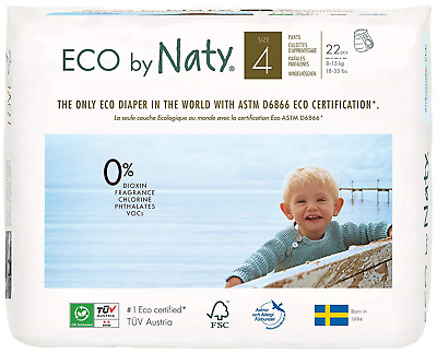 Naty by Nature Babycare Size 4 ECO Pull On Pants Pack of 22