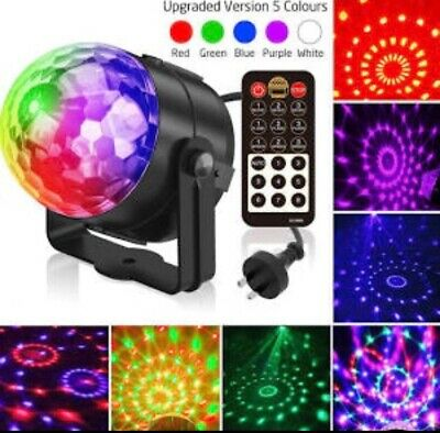 RGB LED Effect Disco Light Stage DJ Laser Lights Club Party Crystal Magic Ball