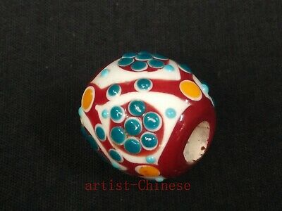 Rare Collection Old China Pretty Glaze eye Bead Pendant Necklace Decoration Gift