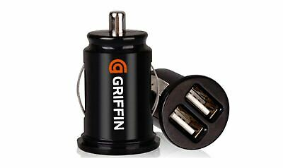 Griffin Compact Dual Twin USB Car Charger for Smartphones 2x 1 Amp 12V - New UK