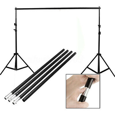 Adjustable Background Photo Studio Backdrop Prop Support Stand Hang Crossbar Kit