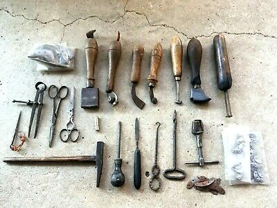 ( n°1) OLD TOOL / LOT OUTILS ANCIENS   BOURRELIER CORDONNIER