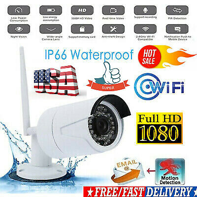 1080P Security IP Camera Video Wireless&Waterproof Outdoor Home Motion Detection