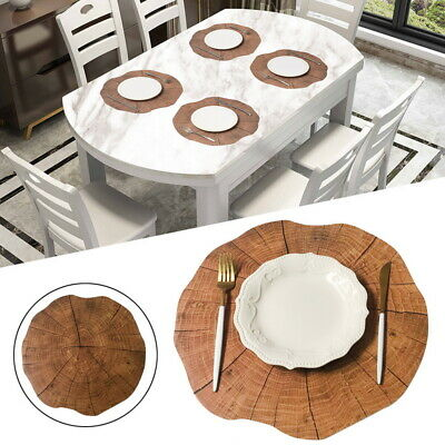 Wood Grain Stripe Pvc Dining Table Mats