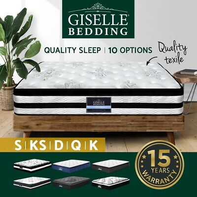Giselle Mattress Queen Double King Single Bed Firm Memory Foam Pocket Spring