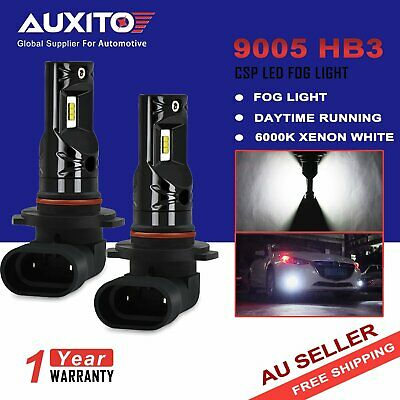2x AUXITO 9005 HB3 CSP LED FOG Driving Light DRL Bulb Globes 6000K High Power A