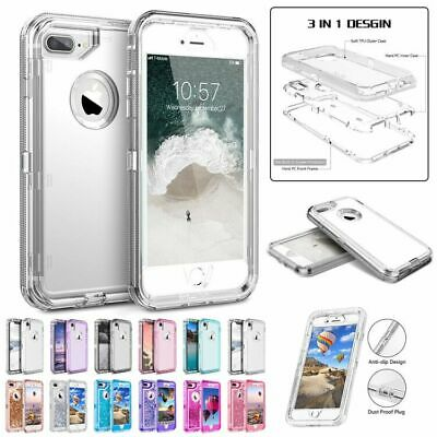 Clear Defender Transparent Case for iPhone XR XS MAX X 87 Heavy Duty Armor Cover