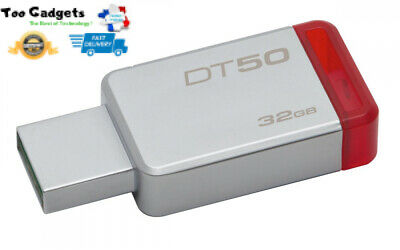 Clé USB 3.1 32 Go compacte métallique Kingston DataTraveler DT50 performante