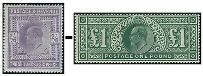 1911-1913 Somerset House Sg 315-Sg 320 Average Used Condition Single Stamps