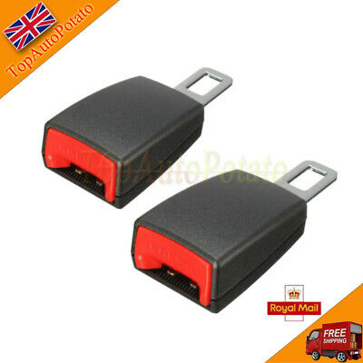 2X Car Safety Seat Belt Extender Extension Buckle Lock Clip Universal Portable