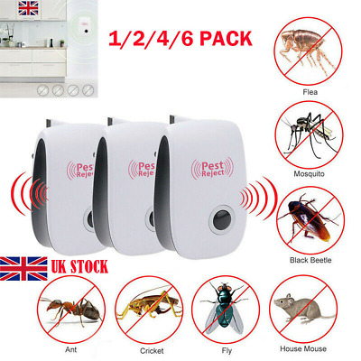 4X Pest Repeller Reject Ultrasonic Electronic Mouse Rat Mosquito Insect ContrA↔
