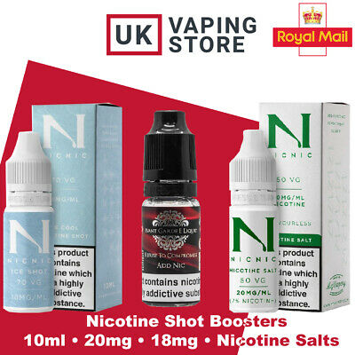 Nic Shots / Nicotine Shot Booster / Nicotine Salt Boosters 18mg 20mg Nic Salts