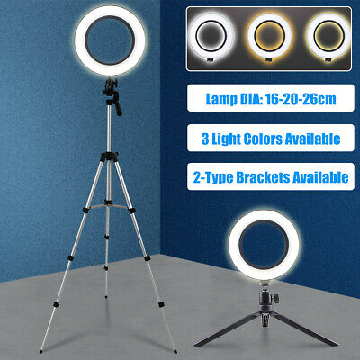 LED Selfie Ring Light Photography Studio Desktop Tripod Phone Camera With Stand