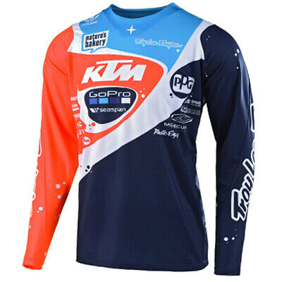 Troy Lee Designs Se Pro Neptune Navy Orange Jersey