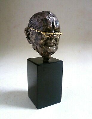 Winston Churchill Sterling Silver & Gold SCULPTURE. George Weil 1974 5/250
