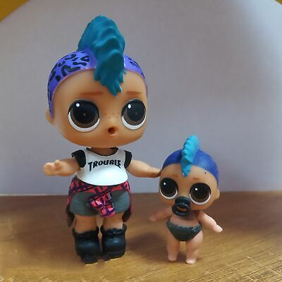 Lot 2 LOL Surprise Big Punk Boi BOY & lil boy Confetti Pop doll - Ultra Rare
