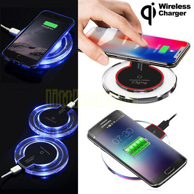 Fast Qi Wireless Fast Charger Pad For Samsung Galaxy Note 8 S8 S9 S7 iPhone X 8