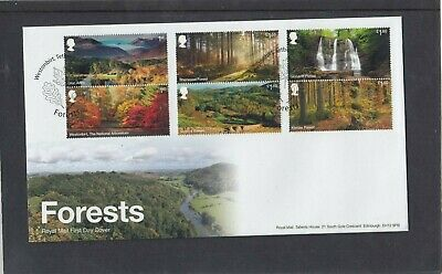 GB 2019 Forests waterfall Royal Mail First Day Cover Westonbirt Tetbury spec pmk