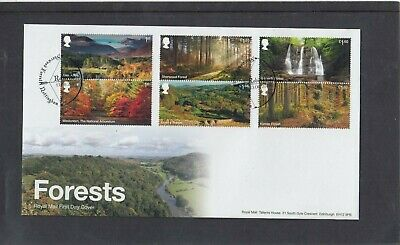 GB 2019 Forests waterfall Royal Mail First Day Cover Sherwood Forest special pmk