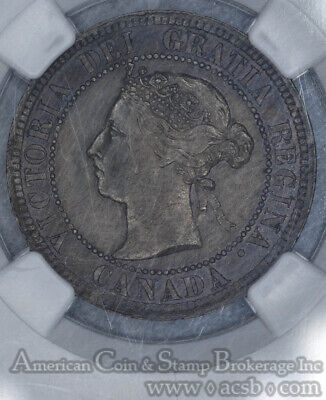 Canada 1c One Cent 1884 MS62 BN NGC bronze KM#7 Victoria BEADS ABOVE HEAD