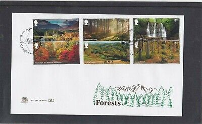 GB 2019 Forests waterfall Stuart FDC First Day Cover Sherwood Forest special pmk