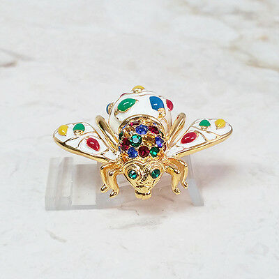 JOAN RIVERS COLLECTIBLE GOLDTONE STRAWBERRY MOTIF BEE DESIGN BEE PIN QVC
